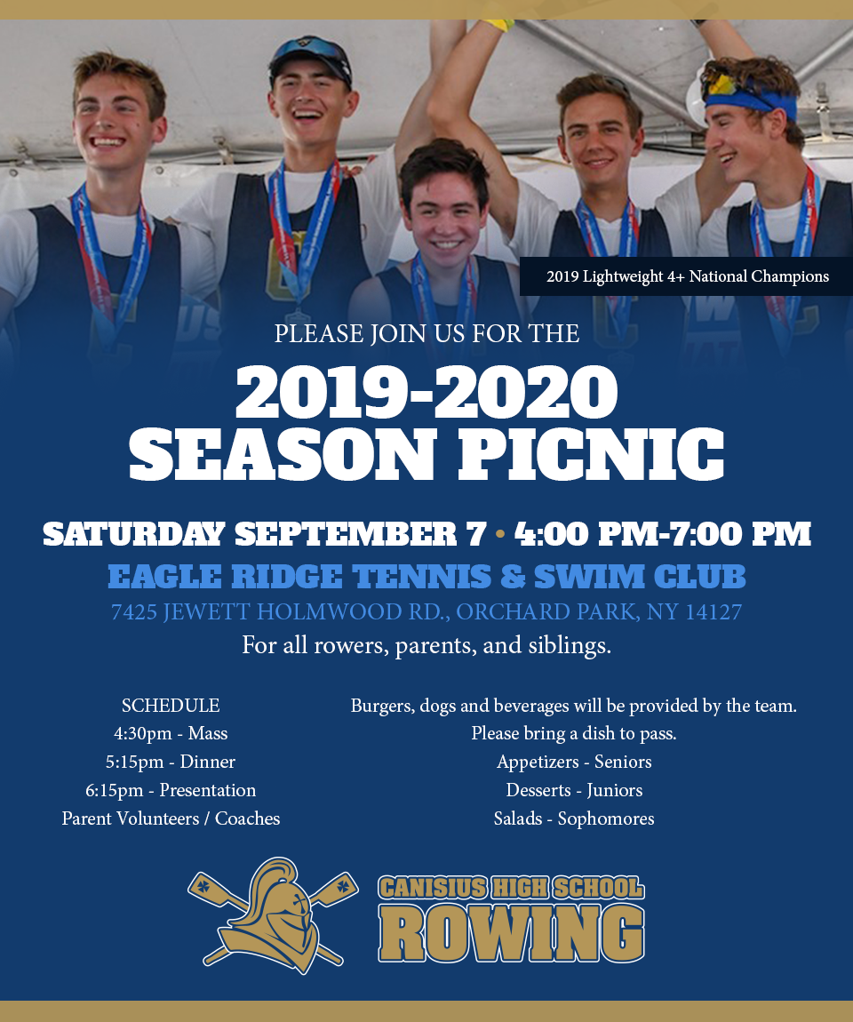 CANISIUS ROWING 2019-2020 SEASON PICNIC
